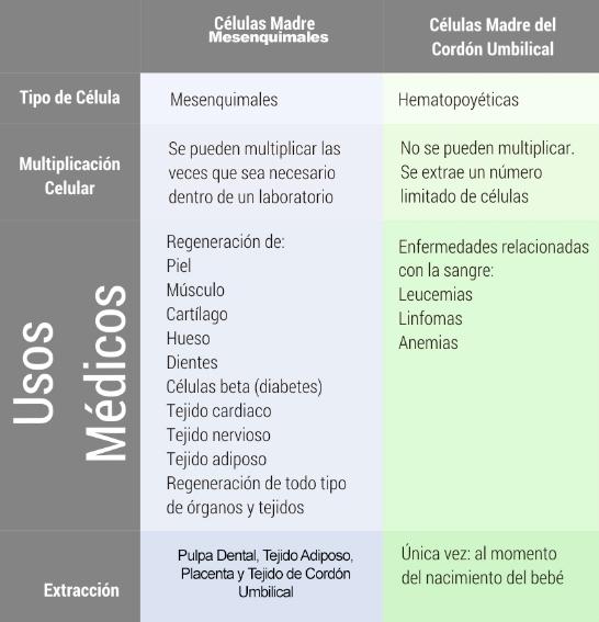 Diferencias entre entre tejidos